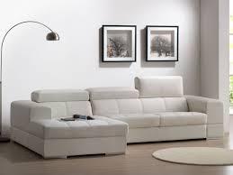 vente unique canapé canapé d angle en cuir baldini ii blanc angle gauche prix promo