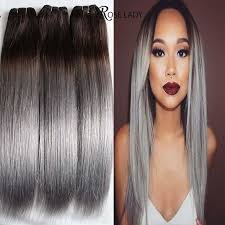 ombre weave 8a 3pcs 18 14 closure ombre grey hair weave with