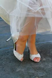 wedding shoes embellished heel wedding shoes silver gold metallic d orsay peep toe low heel