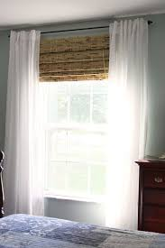 Black And White Striped Curtains Ikea Modifying Bamboo Shades To Fit Your Windows Window Living Rooms