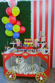 Circus Candy Buffet Ideas by Dessert Table From A Mickey Mouse Circus Birthday Party Via Kara U0027s