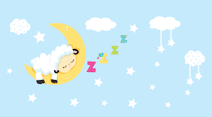 sleeping lamb decal stars and clouds stickers baby room details wall decal