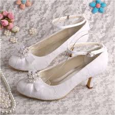 wedding shoes low heel ivory 50 ideas for lace bridal shoes low and high heels femaline