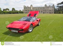 red ferrari classic red ferrari in vintage car show editorial stock photo