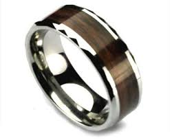 mens wedding rings nz faceted edged mens tungsten ring with woodgrain inlay