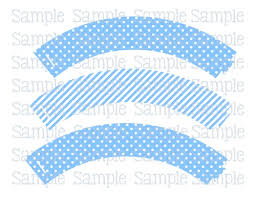 cupcake wrapper template for baby shower printable blue elephant