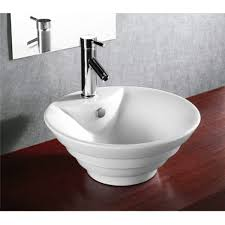 porcelain ceramic single hole countertop bathroom vessel sink 18