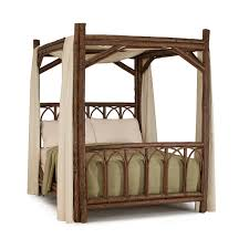 Wood Canopy Bed Rustic Canopy Bed La Lune Collection
