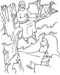 amazing zacchaeus coloring 13 coloring pages kids