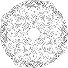 sun moon and stars mandala coloring pages mandala coloring pages