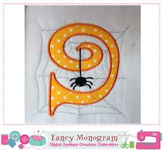 spider numbers applique halloween numbers applique spider design