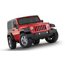 red jeep 2 door bushwacker wrangler jk fender flare pocket style factory coverage