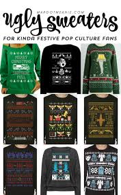 ugly sweaters for non traditonal but still kinda festive misfits