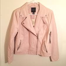 light pink blazer forever 21 forever 21 jackets coats faux leather moto jacket light pink