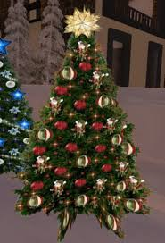 Decorate Christmas Tree Red And Gold by Second Life Marketplace Christmas Tree 61 With Twinkling Red