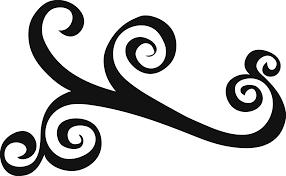 swirl design clipart