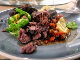 Delicious Main Course With Braised Pork Cheeks Pickled Slow Oven Braised Beef Cheeks Please Pass The Recipe