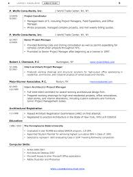 Architectural Resume Examples by Architect Resume Sample Resumedoc