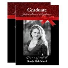 formal red white graduation party invitations u0026 announcements zazzle