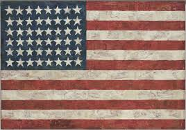 Flags That Are Orange White And Green Jasper Johns Flag 1954 55 Dated On Reverse 1954 Moma