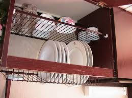 Kitchen Cabinet Plate Rack Storage My Favorite Feature Of Kitchens Is A Dish Rack Inside A