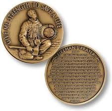 firefighter gifts engraved firefighter awards medallion coins