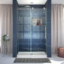 Single Frameless Shower Door Dreamline Enigma Z 76 X 48 Single Sliding Frameless Shower Door
