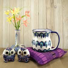 Peacock Mug Cup Warmer Trivet Ceramics U0026 Home Decor Handmade Guatemalan