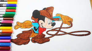 mickey mouse cowboy coloring pages mickey mouse coloring book