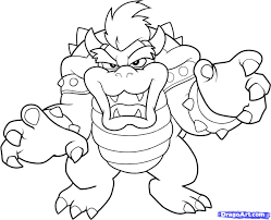 coloring pages of mario characters mario bros bowser coloring pages by sharon förskola pinterest