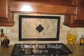 tile borders for kitchen backsplash rachels flower kitchen backsplash medallions and accents chair
