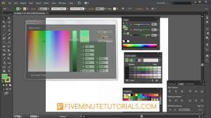 adobe illustrator color picker and color palette tutorial youtube