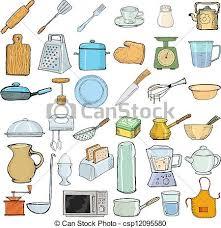 objets de cuisine objets cuisine ensemble objets illustration vecteur