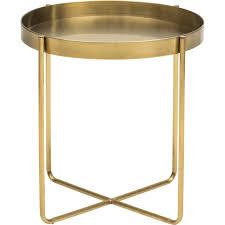 gavin side table gold living room pinterest steel frame