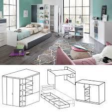 jugendzimmer g nstig kaufen jugendzimmer set joker 4tlg anthrazit weiß kinderzimmer möbel