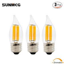 Dimmable Led Chandelier Light Bulbs Aliexpress Com Buy Sunmeg E26 C32 Led Chandelier Light Bulb E12