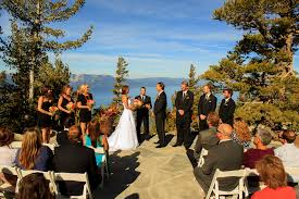 South Lake Tahoe Wedding Venues Mountain Top Wedding Ceremony At Heavenly Mountain Resort South