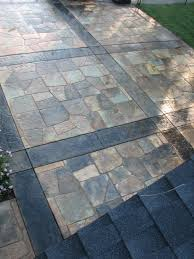 Concrete Patio Vs Pavers by Pros And Cons Of Stamped Concrete Patio Home Design Ideas And