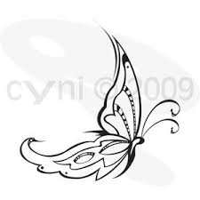 butterfly designs italic style tribal butterfly
