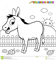coloring book donkey stock vector image 45798671