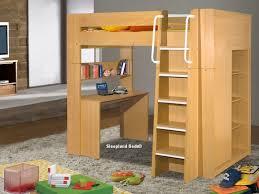 Beech Bed Frames Children S High Sleeper Beds With Wardrobe Desk Beech