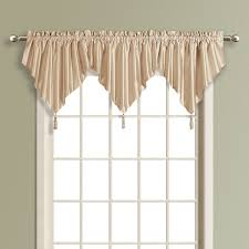 Chocolate Curtains With Valance United Curtain Company Anna 42x24 Faux Silk Ascot Valance White