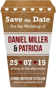 custom save the dates coffee cup wedding save the date magnets customized coffee cup
