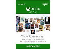 digital play gift card xbox pass 1 month gift card 9 99 digital code newegg
