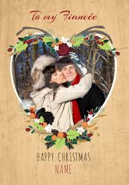fiancée christmas cards personalised from 1 79
