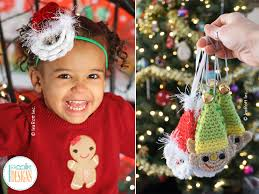 papa noel santa headband and elf christmas ornament pdf crochet