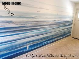 modern coastal wall mural diy