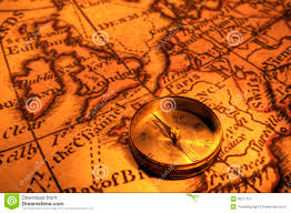 European Exploration Map Compass And Map Of Uk And Europe Stock Image Image 26271515