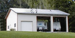 modern white nuance of the metal rv garages that can be a good