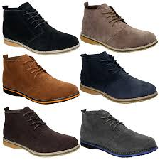 lace up desert boots casual shoes for men ebay
